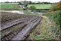 SP7336 : Field edge looking toward Leckhampstead by Philip Jeffrey