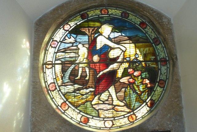 Melbury Osmond Church: stained glass window  (i)