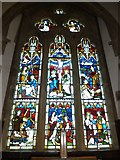 ST5707 : Melbury Osmond Church: stained glass window  (ii) by Basher Eyre