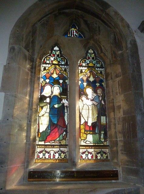Melbury Osmond Church: stained glass window  (iii)