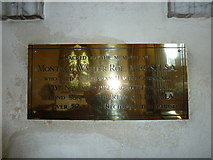 ST5707 : Melbury Osmond Church: memorial (j) by Basher Eyre