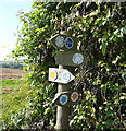 SP2217 : Signpost on the bridleway by Graham Horn