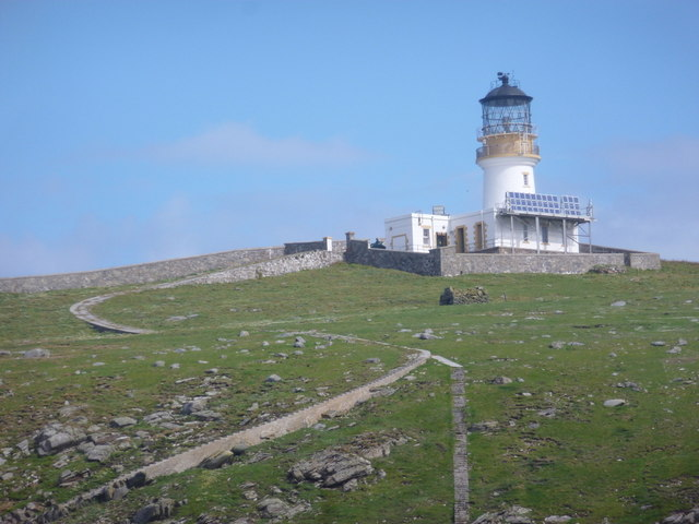 Flannan Isles: the lighthouse from the sea to the south