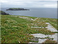 NA7246 : Flannan Isles: railway trackbeds diverge by Chris Downer