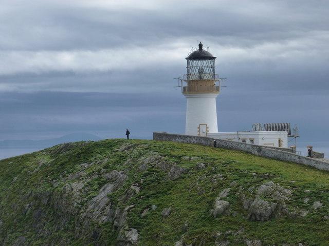 Flannan Isles: a man surveys the view