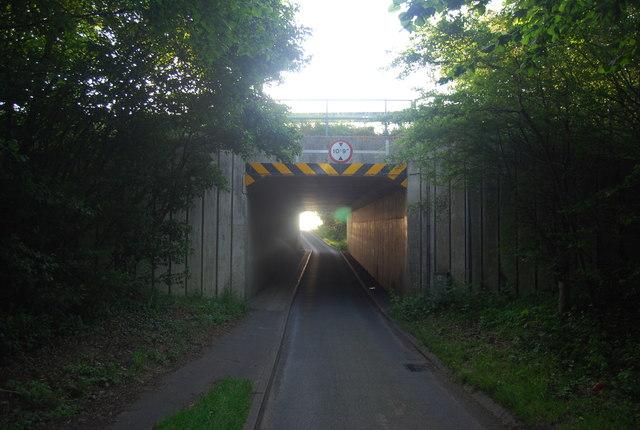 New Rd under the Norwich bypass (A47)