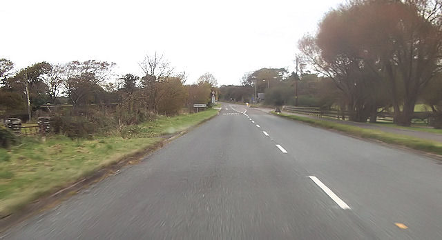 Road junction near Ty Mawr entrance