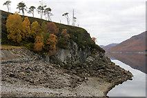 NH2230 : Crag on the south shore of Loch Mullardoch by Mike Pennington