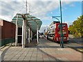 SJ8990 : Wellington Road North Bus Shelter by Gerald England