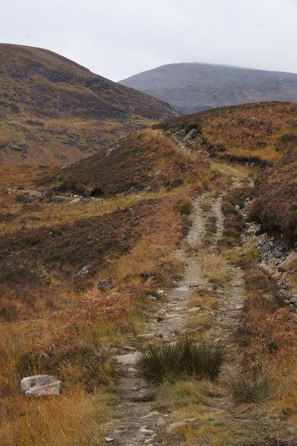 Path on the north side of Loch Mullardoch