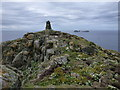 NA7246 : Flannan Isles: cairn and Roaiream view by Chris Downer