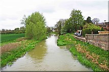 TF1309 : River Welland looking west, Market Deeping by P L Chadwick