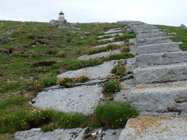 Flannan Isles: the railway heads for the lighthouse
