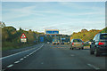 SU4316 : M27 - approaching junction 4 by Robin Webster