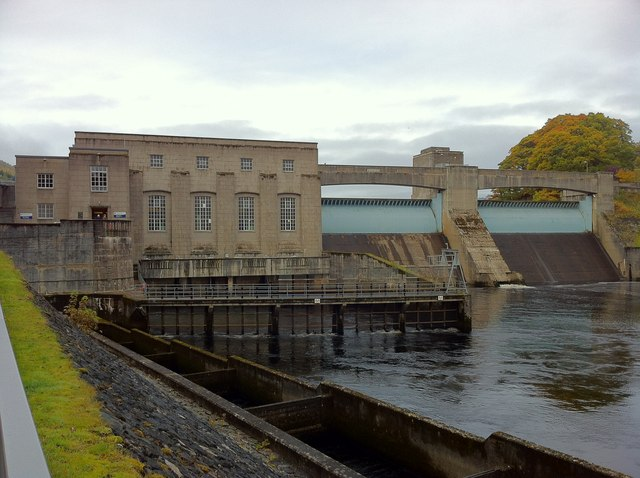 Pitlochry dam and power station