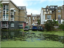 TQ2482 : Grand Union Canal, Paddington Branch at moorings on Hormead Road by Alexander P Kapp