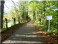 TQ5260 : Private road across Darenth Valley Golf Course by Marathon