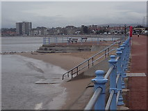 SD4464 : Morecambe Bay and promenade towards Bare by Andrew Hill