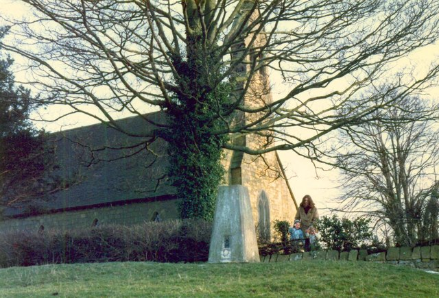 Trig point and St Giles Church