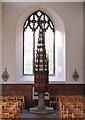 TG2308 : St John the Baptist, Timberhill - Font & cover by John Salmon