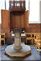 TG2308 : St John the Baptist, Timberhill - Font cover open by John Salmon