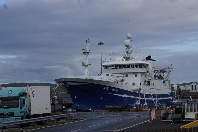 Irish fishing vessel Voyager at Holmsgarth, Lerwick