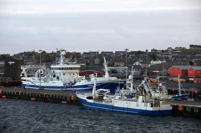 Fishing vessels at Holmsgarth, Lerwick