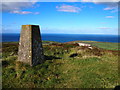 SW4738 : Trig Point, Trendrine Hill by Chris Andrews