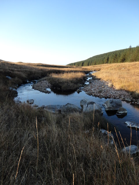 Burn running through Glen Scaftigill