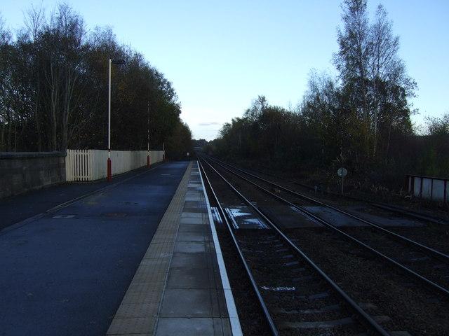 Railway towards Newcastle, Haltwhistle Station