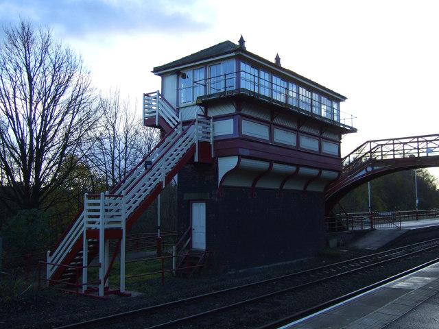 Signal box, Haltwhistle Station