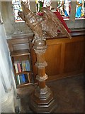 SY7190 : St Michael, Stinsford: lectern by Basher Eyre