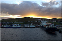 HU4642 : Holmsgarth pier at sunset by Mike Pennington