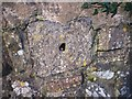 SN1607 : Amroth Churchyard Wall - stone detail by welshbabe