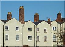 SO9198 : Rear of buildings in George Street, Wolverhampton by Roger  Kidd