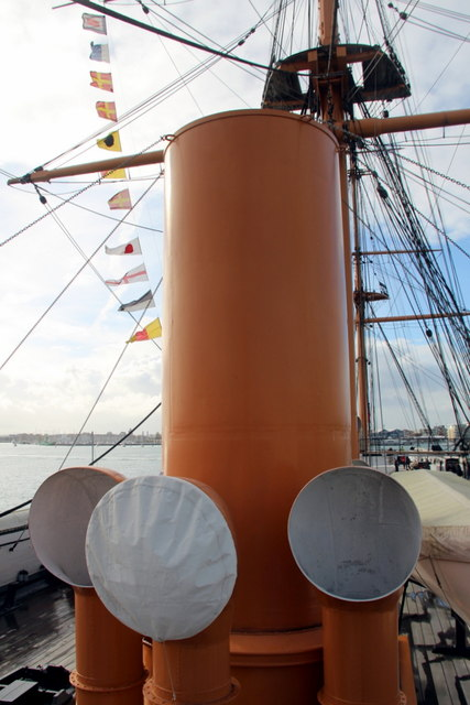 Ventilation Shafts, HMS Warrior, Portsmouth Historic Dockyard, Portsmouth, Hampshire
