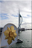 SZ6299 : Spinnaker Tower from HMS Warrior, Portsmouth, Hampshire by Christine Matthews