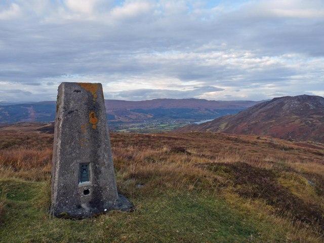 Triangulation pillar by the Corrieyairack Pass, Inverness-shire