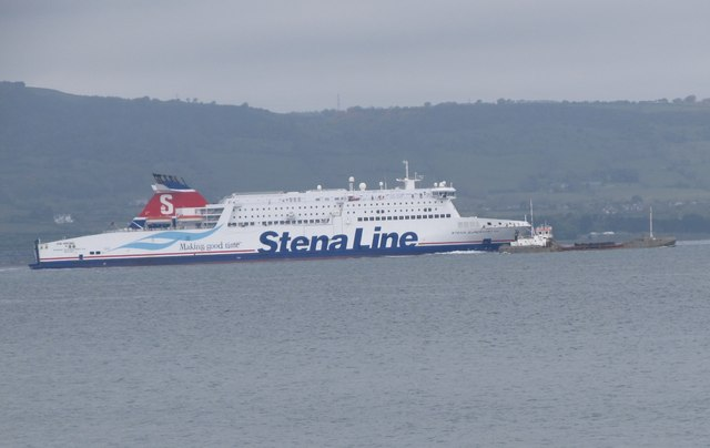"""Making Good Time"" - Stena Ferry overtakes a small coaster"