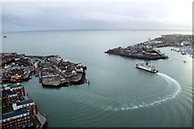 SZ6299 : The Point and Fort Blockhouse  from the Spinnaker Tower, Portsmouth, Hampshire by Christine Matthews