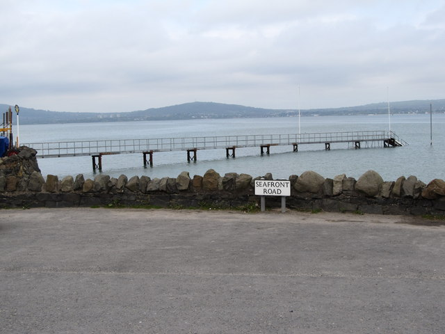 The jetty of the Royal North of Ireland Yacht Club, Cultra