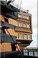 SU6200 : Stern of HMS Victory, Portsmouth Historic Dockyard, Hampshire by Christine Matthews