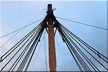 SU6200 : Mast, HMS Victory, Portsmouth Historic Dockyard, Hampshire by Christine Matthews