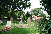 TQ9293 : Churchyard, Church of St Peter, Paglesham by N Chadwick