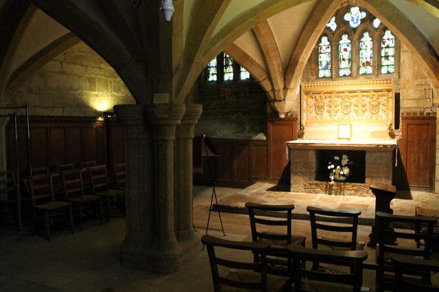 Crypt And Medieval Altar St Wulfram S 169 J Hannan