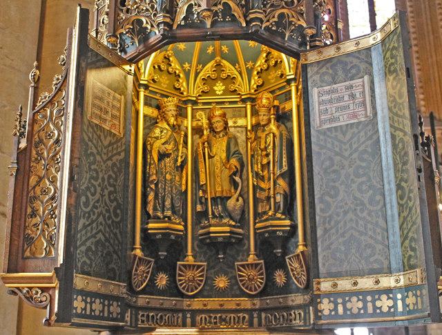 Font cover, St  Wulfram's church, Grantham