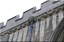 SK9136 : Gargoyle and carved faces, St Wulfram's church, Grantham by J.Hannan-Briggs