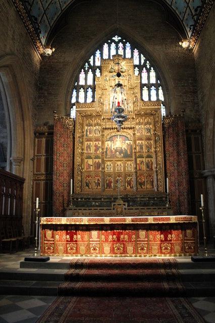 Altar and reredos, St Wulfram's church, Grantham