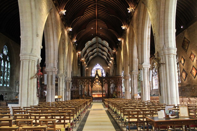 Interior, St Wulfram's church, Grantham