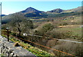 SH5647 : A distant view of Moel Hebog, Snowdonia by Jaggery